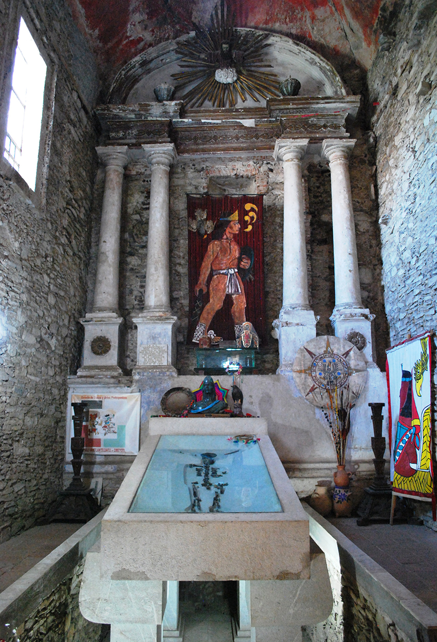 Shrine with alleged bones of Cuauhtémoc, Ixcateopan,