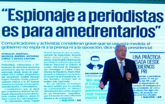 AMLO denies spying on journalists